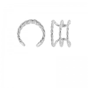 Karma earcuff triple ribble 925 sterling zilver (1 piece)
