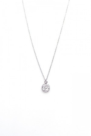 Karma ketting coin 925 sterling zilver 38-45cm
