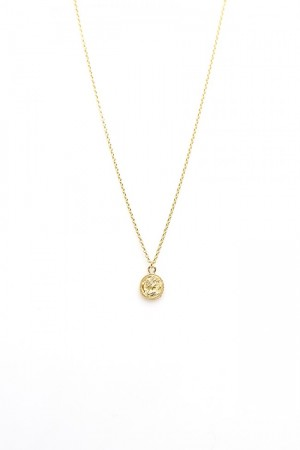 Karma ketting coin 925 sterling zilver goldplated 38-45cm