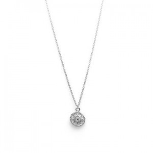 Karma ketting coin sun 925 sterling zilver 38-45cm