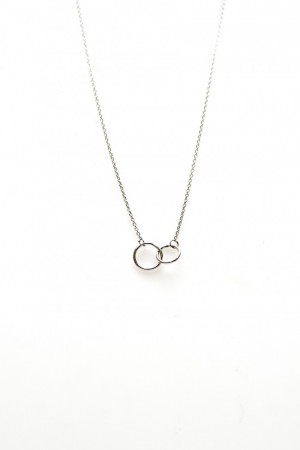 Karma ketting double circle 925 sterling zilver 50-57cm