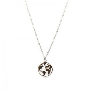 Karma ketting earth 925 sterling zilver 38-45cm