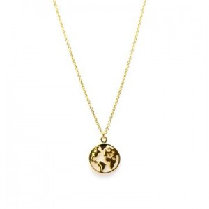 Karma ketting earth 925 sterling zilver goldplated 38-45cm