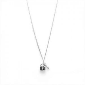 Karma ketting key lock 925 sterling zilver 38-45cm