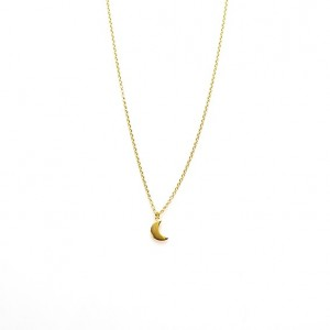 Karma ketting moon 925 sterling zilver goldplated 38-45cm