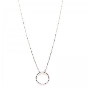 Karma ketting open circle 925 sterling zilver 38-45cm
