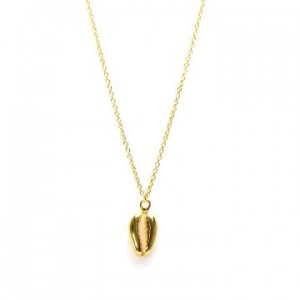 Karma ketting shell 3 925 sterling zilver goldplated 38-45cm