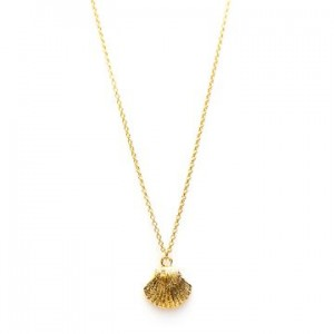 Karma ketting shell 925 sterling zilver goldplated 38-45cm