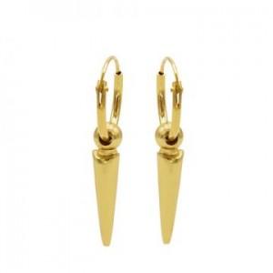 Karma oorbellen hoops symbols dot long cone goud (per paar)