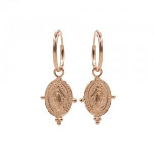 Karma oorbellen hoops symbols dots maria roseplated 12mm (per paar)