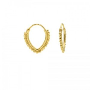 Karma oorbellen hoops symbols dots row  pointy oval goud