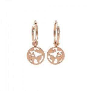 Karma oorbellen hoops symbols earth rose (per paar)