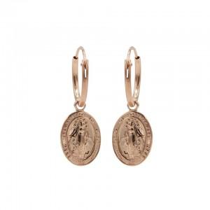 Karma oorbellen hoops symbols maria roseplated 12mm (per paar)