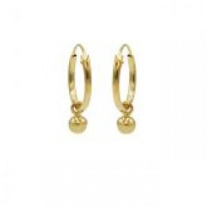 Karma oorbellen hoops symbols mini ball goud (per paar)
