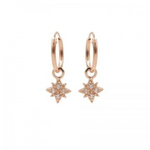 Karma oorbellen hoops symbols morningstar 2 zirconia rosé