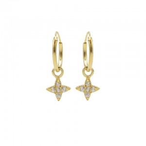 Karma oorbellen hoops symbols morningstar zirconia goud
