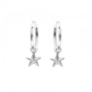 Karma oorbellen hoops symbols polestar zilver