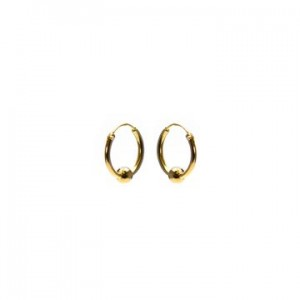 Karma oorbellen hoops symbols single dot goud (per paar)