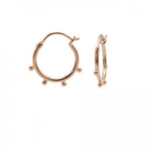 Karma oorbellen hoops symbols solid 4 dots rose