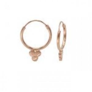 Karma oorbellen hoops symbols solid triple dot rosé (per paar)