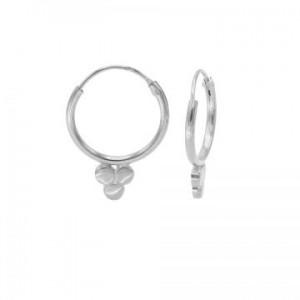 Karma oorbellen hoops symbols solid triple dot zilver (per paar)
