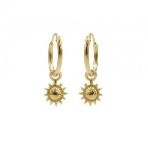 Karma oorbellen hoops symbols sun goud (per paar)