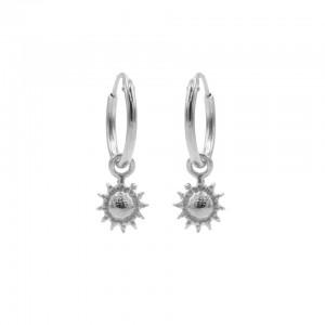 Karma oorbellen hoops symbols sun zilver (per paar)