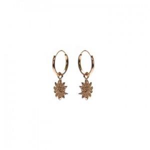 Karma oorbellen hoops symbols sunflower rosé (per paar)