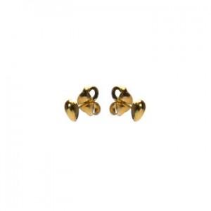 Karma oorbellen knopje symbols mini drop goud (per paar)