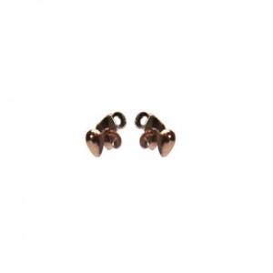 Karma oorbellen knopje symbols mini drop rosé (per paar)