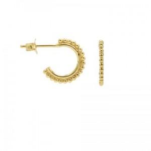 Karma oorbellen  symbols dots row  half hoop goud