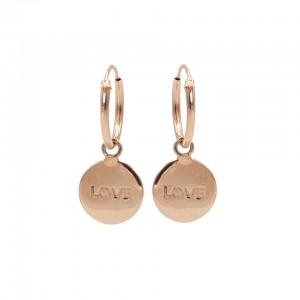 Karma oorbellen symbols love rosé(per paar)