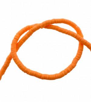 Katsuki kralen 4mm neon oranje 425 stuks (45 cm)
