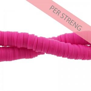 Katsuki kralen 6mm fuchsia roze 425 stuks (45 cm)