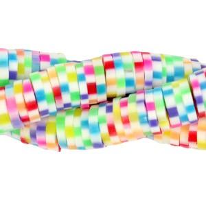 Katsuki kralen 6mm rainbow white mix 425 stuks (45 cm)