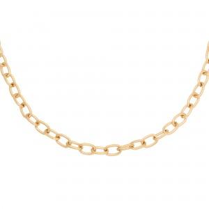 ketting-circles-stainless-steel-goud