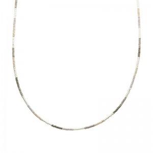 Ketting kralen Biba kleurenmix grijs zilverkleurig