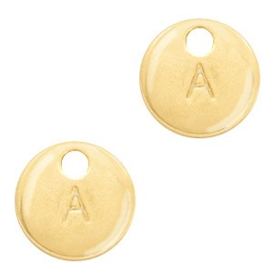 Letter initaal bedel 10mm goud (A-Z)