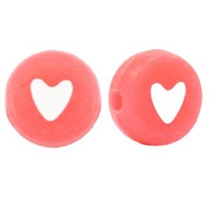 hartjeskralen-rond-7mm-coral-red