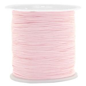 Macrame draad 0.5mm bright pink per meter