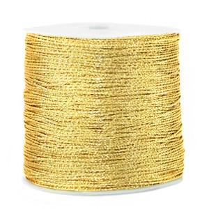 Macrame draad 0.5mm cornsilk gold per meter