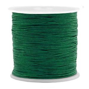 Macrame draad 0.5mm dark green per meter