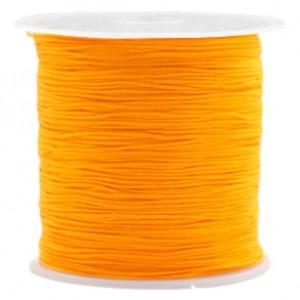 Macrame draad 0.5mm warm yellow per meter