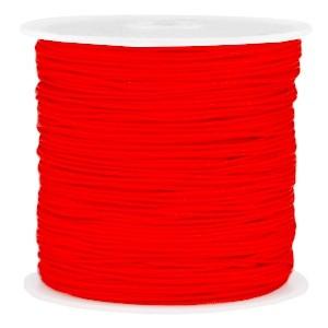 Macramé draad 0.8mm fiery red per meter