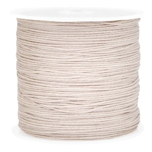 Macramé draad 0.8mm light greige-brown per meter