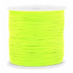 Macrame draad 0.8mm neon green per meter