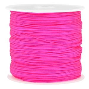 Macramé draad 0.8mm neon pink per meter