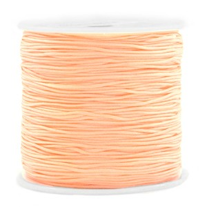 Macrame draad 0.8mm peach orange per meter