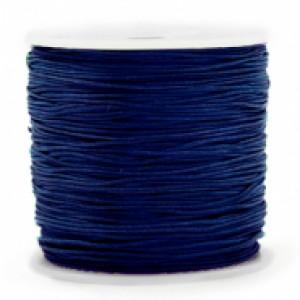 Macrame draad 0.8mm sodalite dark blue per meter