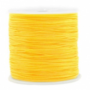 Macrame draad 0.8mm yellow per meter